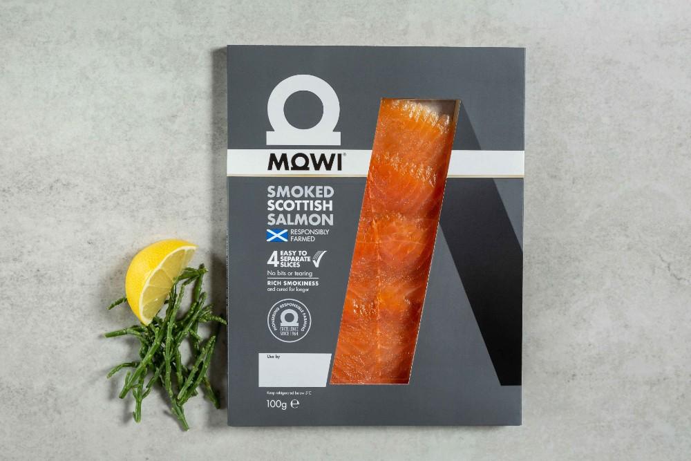 Mowi cold smoked salmon slices