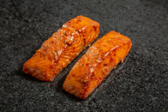 Mowi slow roast piri piri salmon