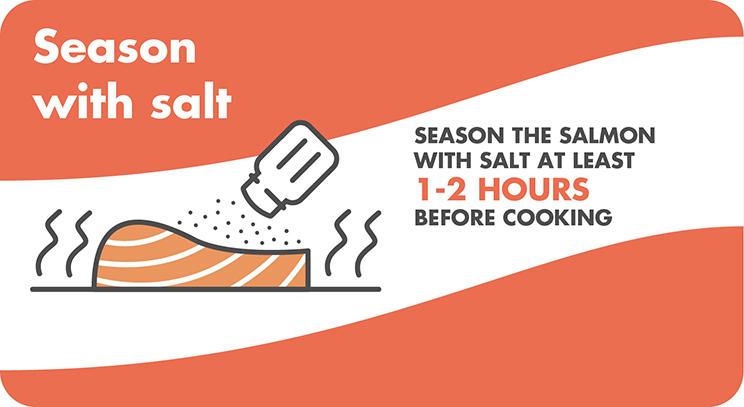 Seasoning MOWI salmon before cooking